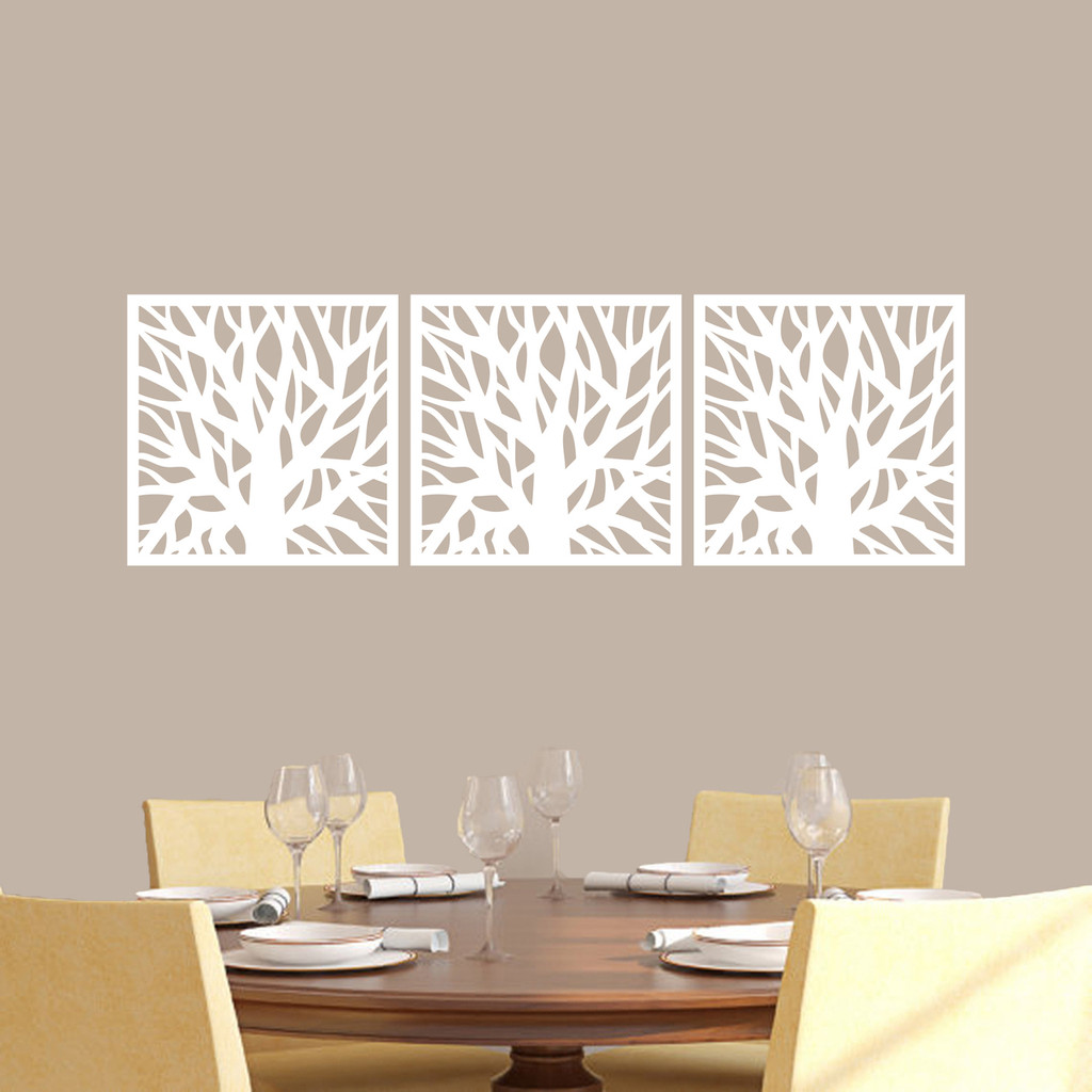 Tree Branch Squares Wall Decals Medium Sample Image
