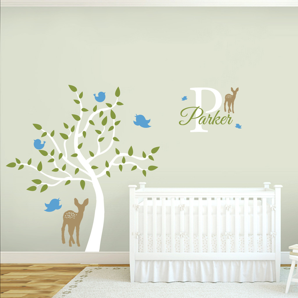 Custom Name Tree Scene Wall Decals and Stickers  sc 1 st  Sweetums Signatures & Custom Name Tree Scene Wall Decals Wall Decor Stickers