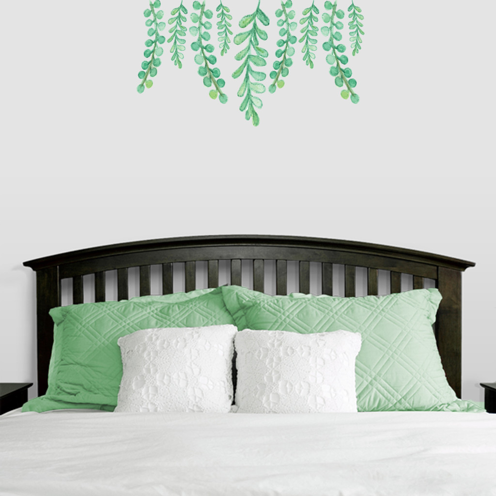 "Hanging Eucalyptus Printed Wall Decals 36"" wide x 20"" tall Sample Image"
