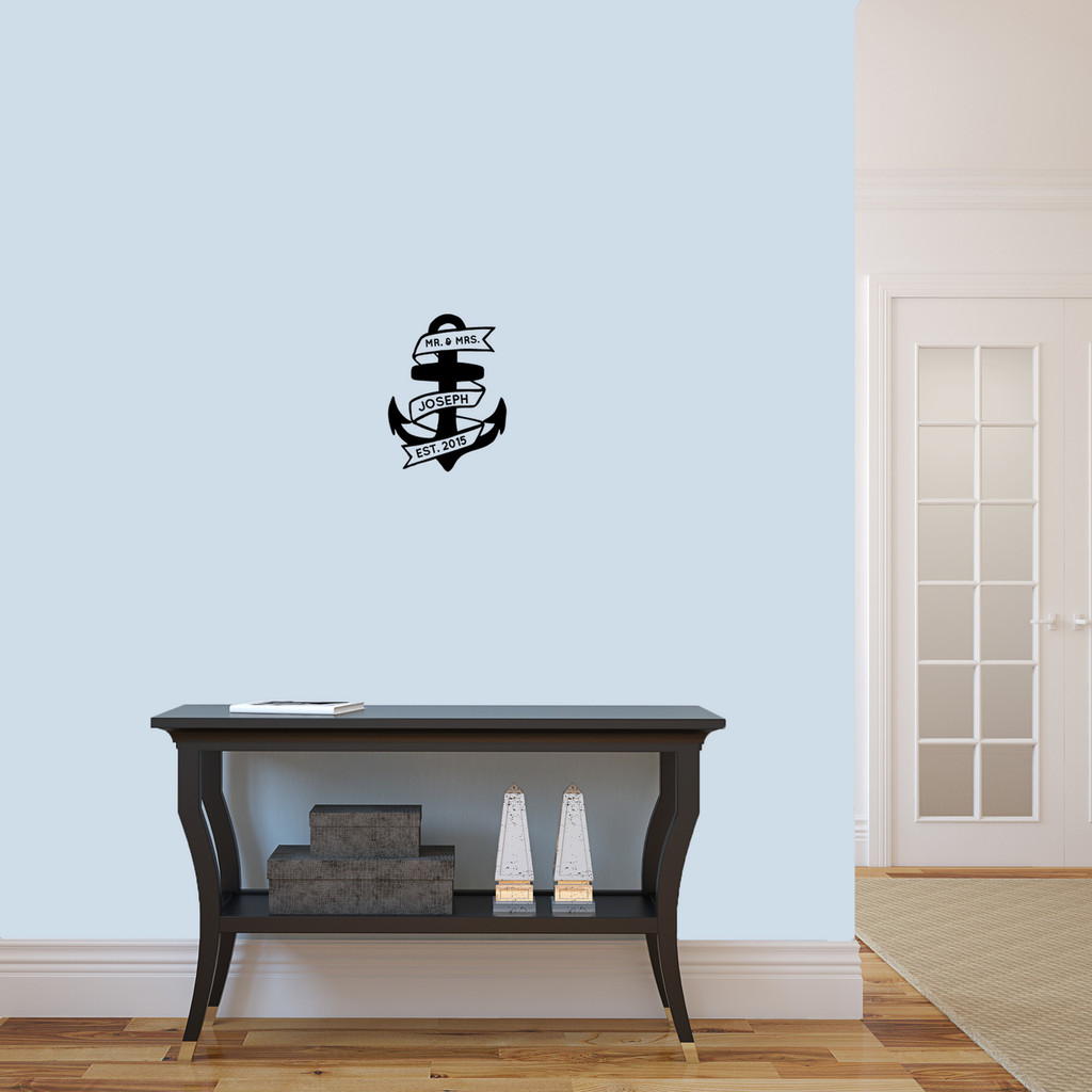 "Custom Anchor Wall Decal 9"" wide x 12"" tall Sample Image"