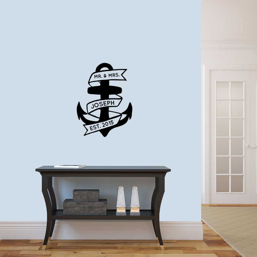"Custom Anchor Wall Decal 18"" wide x 24"" tall Sample Image"