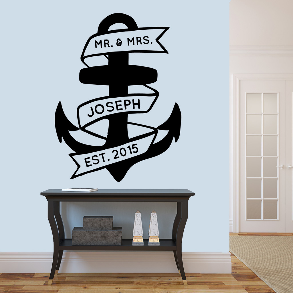 "Custom Anchor Wall Decal 36"" wide x 48"" tall Sample Image"