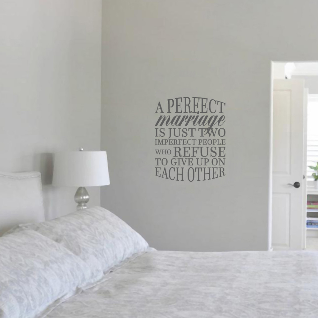 """A Perfect Marriage Wall Decal 20"""" wide x 24"""" tall Sample Image"""