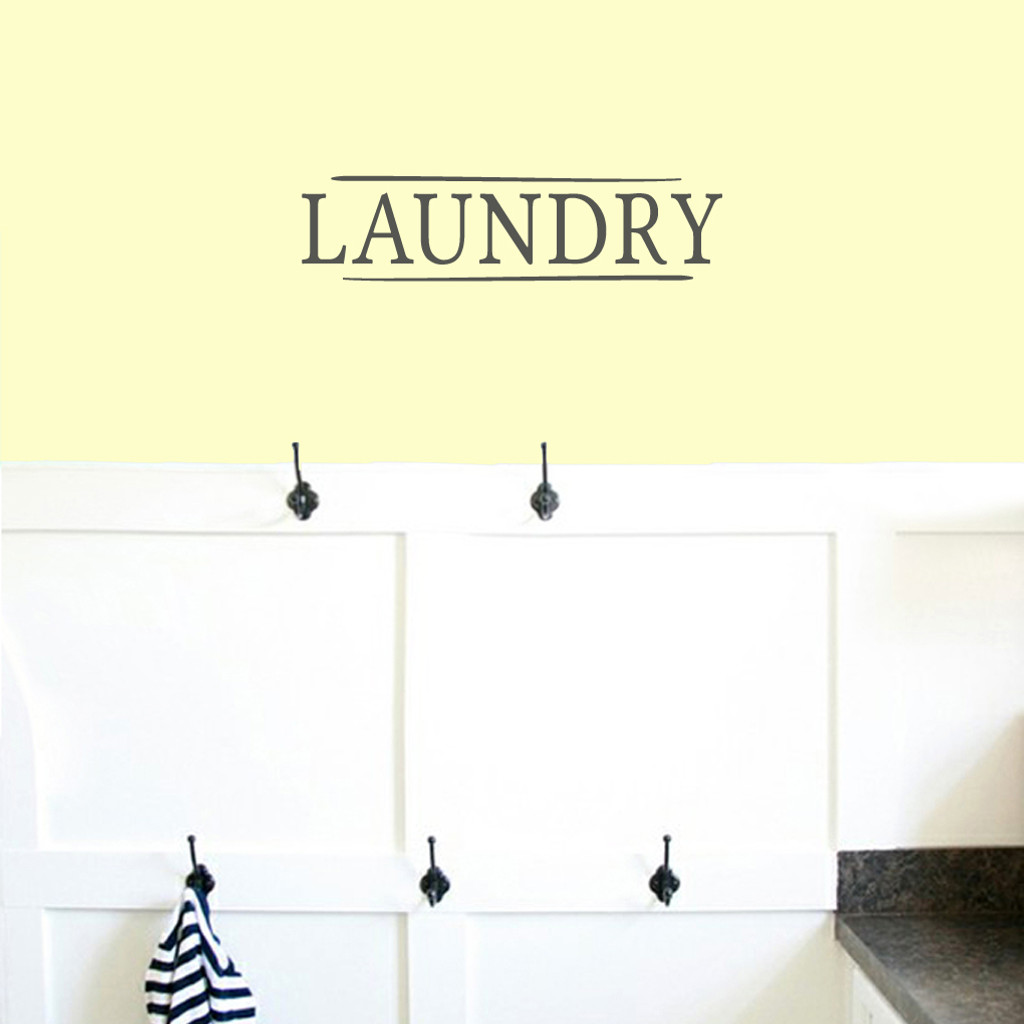 "Laundry Wall Decals 18"" wide x 4.5"" tall Sample Size"