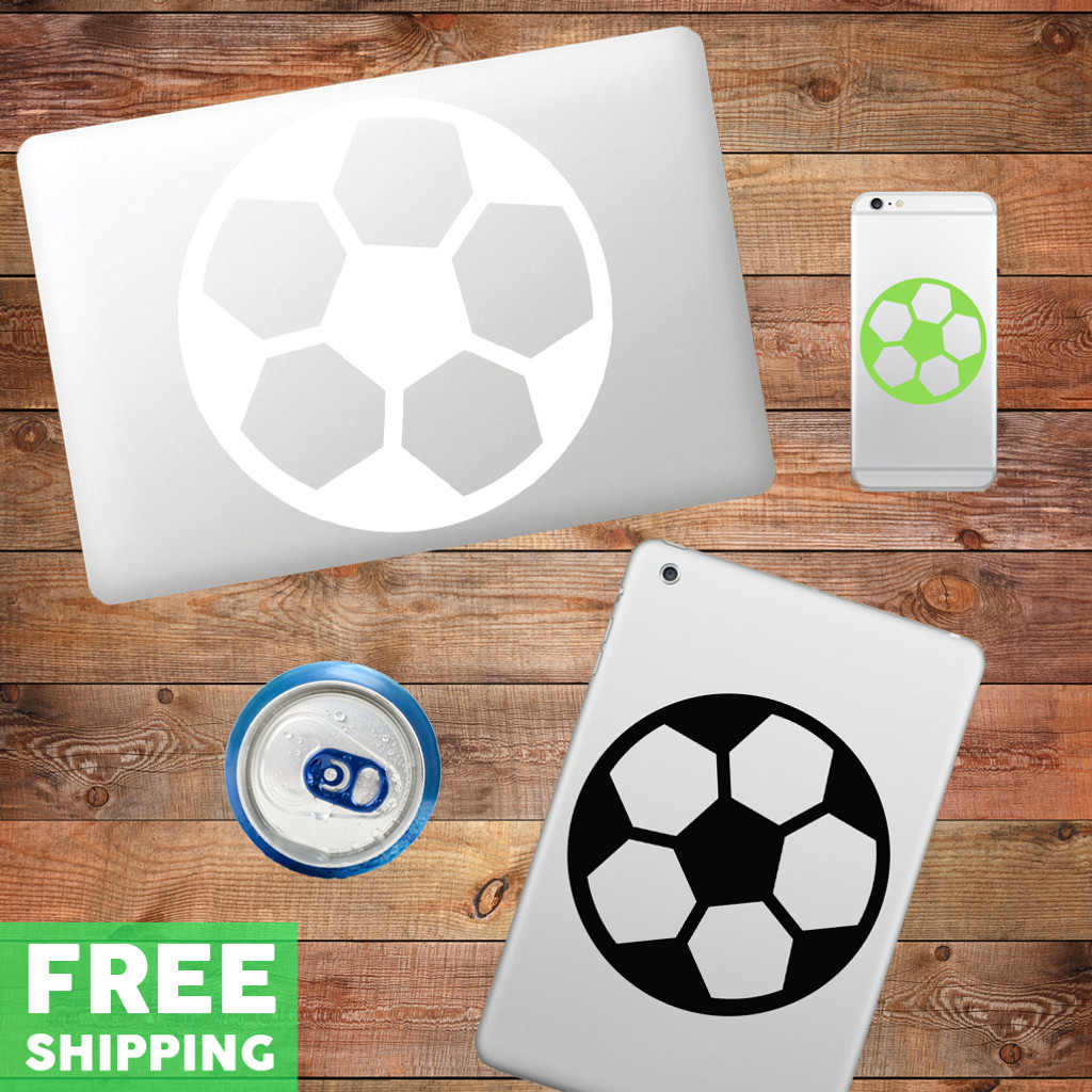 Soccer Ball Device Decal Water Bottle Sticker
