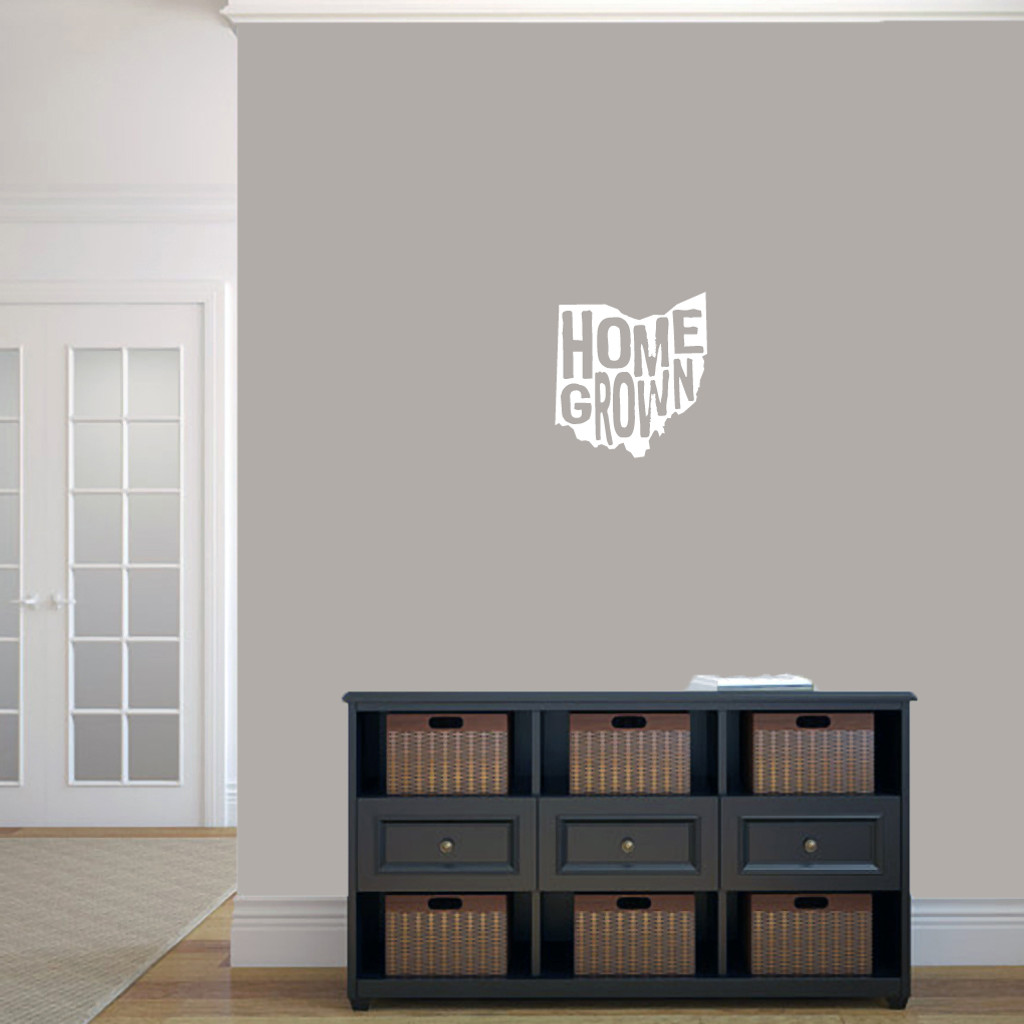 """Homegrown Ohio Wall Decal 11"""" wide x 12"""" tall Sample Image"""