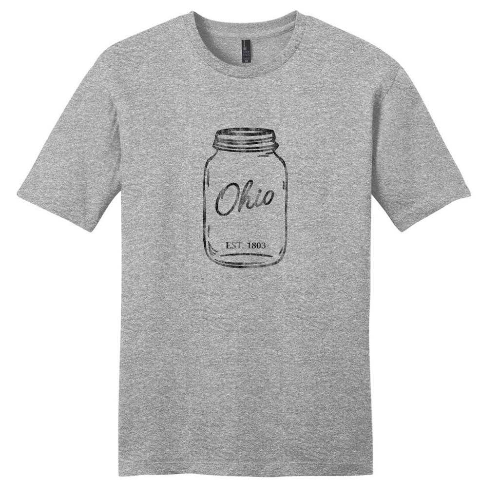 Light Heathered Gray Ohio Mason Jar T-Shirt