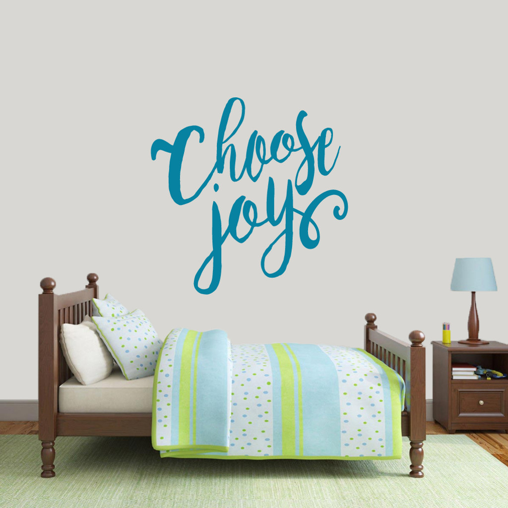 "Choose Joy Wall Decal 36"" wide x 36"" tall Sample Image"