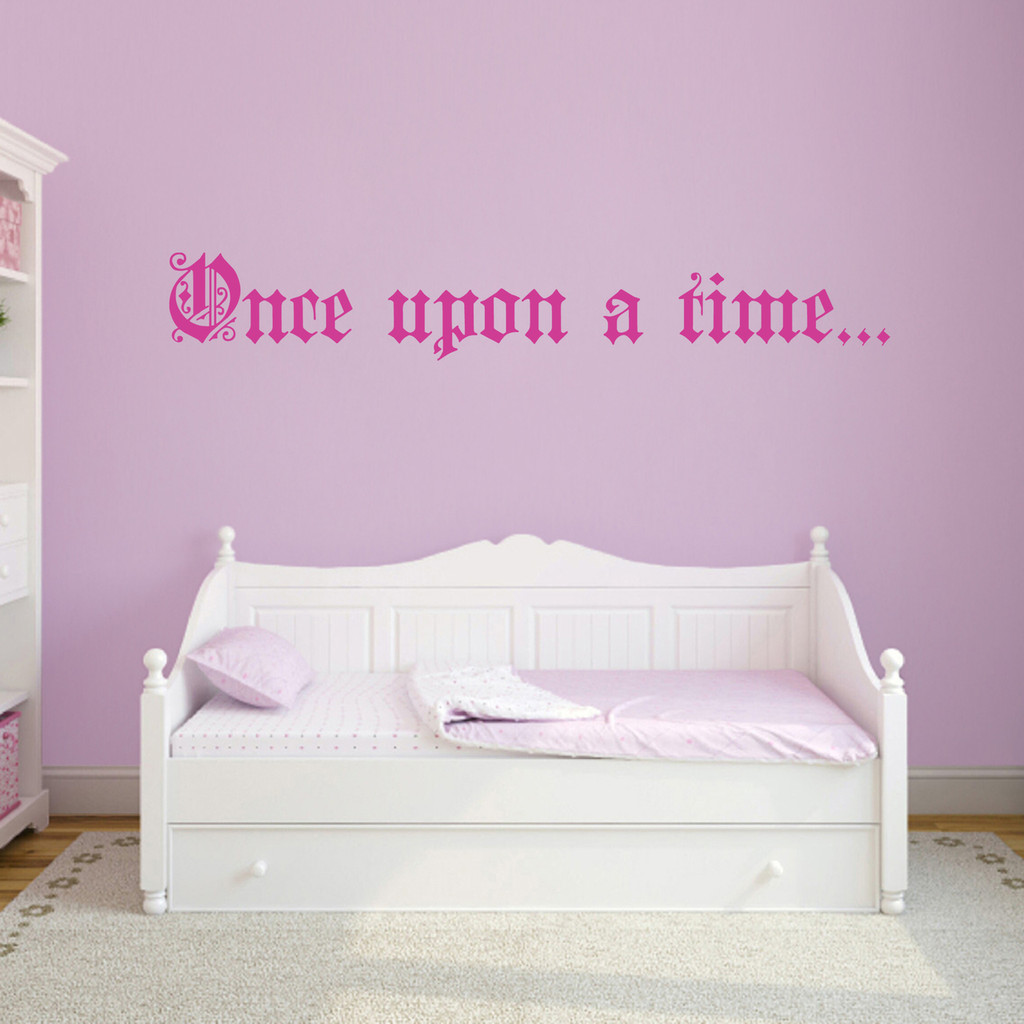 """Once Upon A Time Wall Decal 90"""" wide x 9"""" tall Sample Image"""