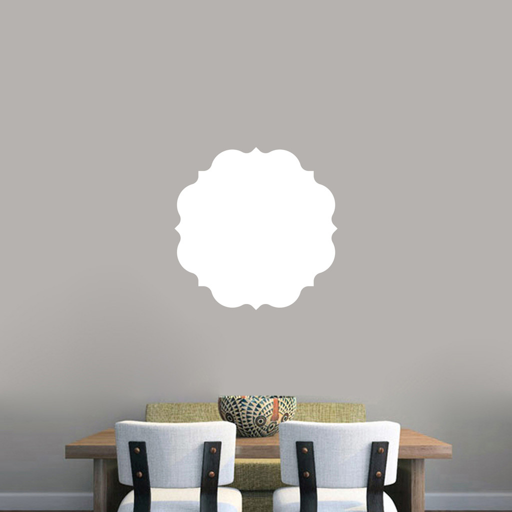 """Dry Erase Badge Wall Decals 18"""" wide x 18"""" tall Sample Image"""