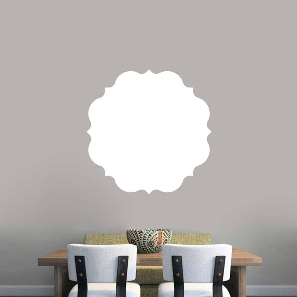 """Dry Erase Badge Wall Decals 23"""" wide x 23"""" tall Sample Image"""