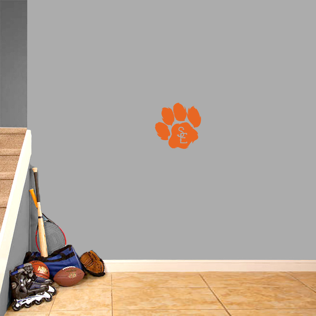 "Seneca East Paw Print Wall Decal 12"" wide x 12"" tall Sample Image"