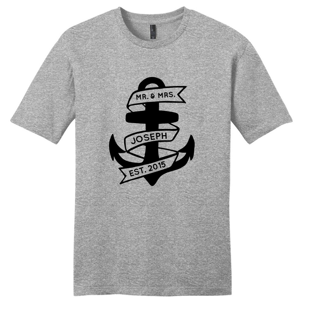 Light Heathered Gray Custom Anchor T-Shirt