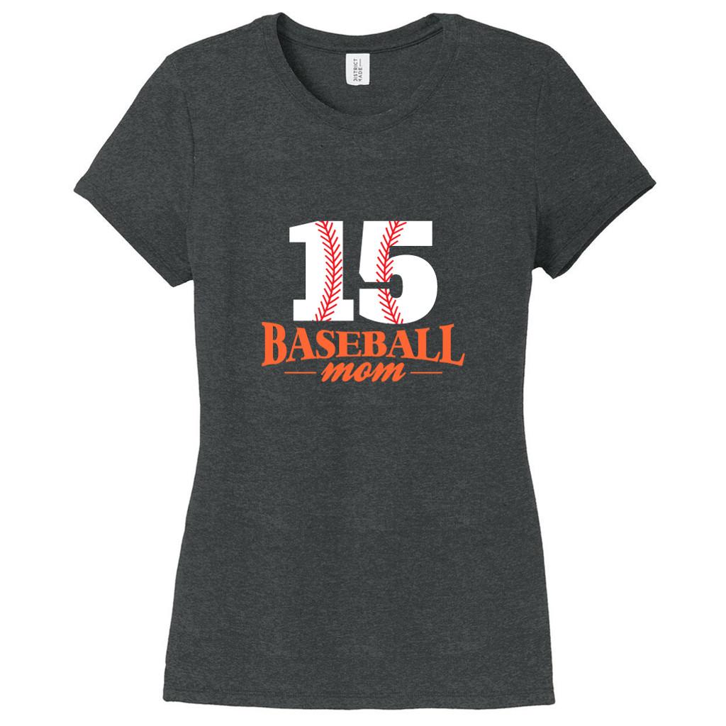 Black Frost Custom Baseball Mom Women's Fitted T-Shirt