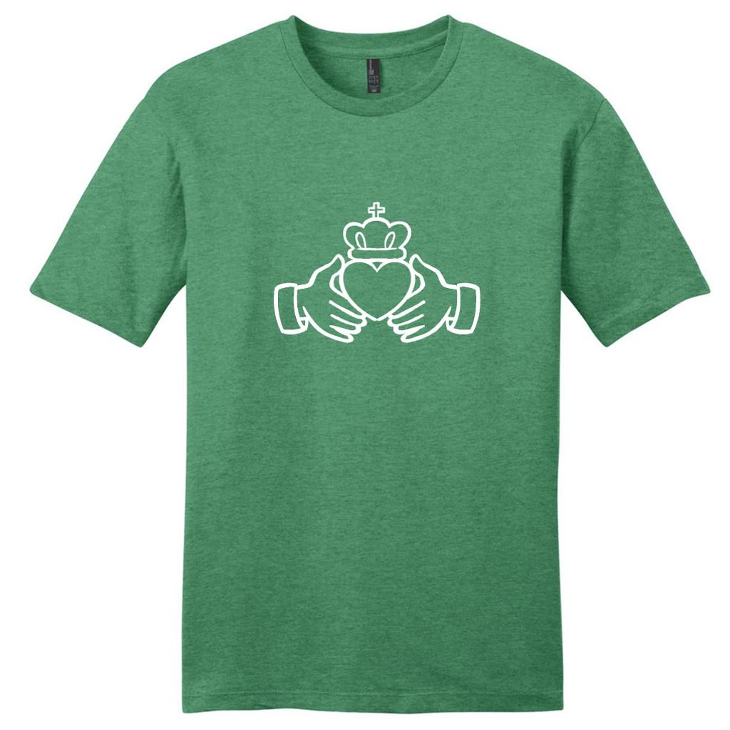 Heathered Kelly Green Irish Claddagh T-Shirt