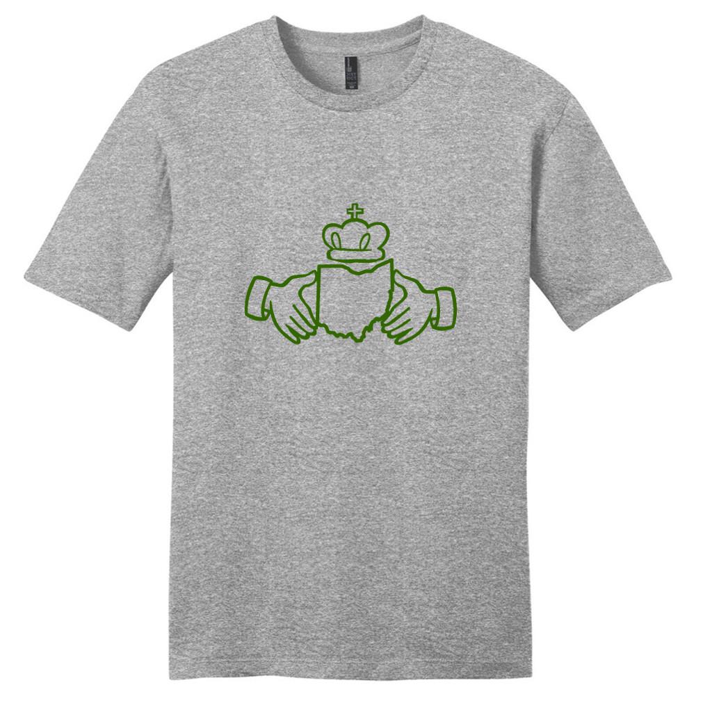 Light Heathered Gray Ohio Irish Claddagh T-Shirt