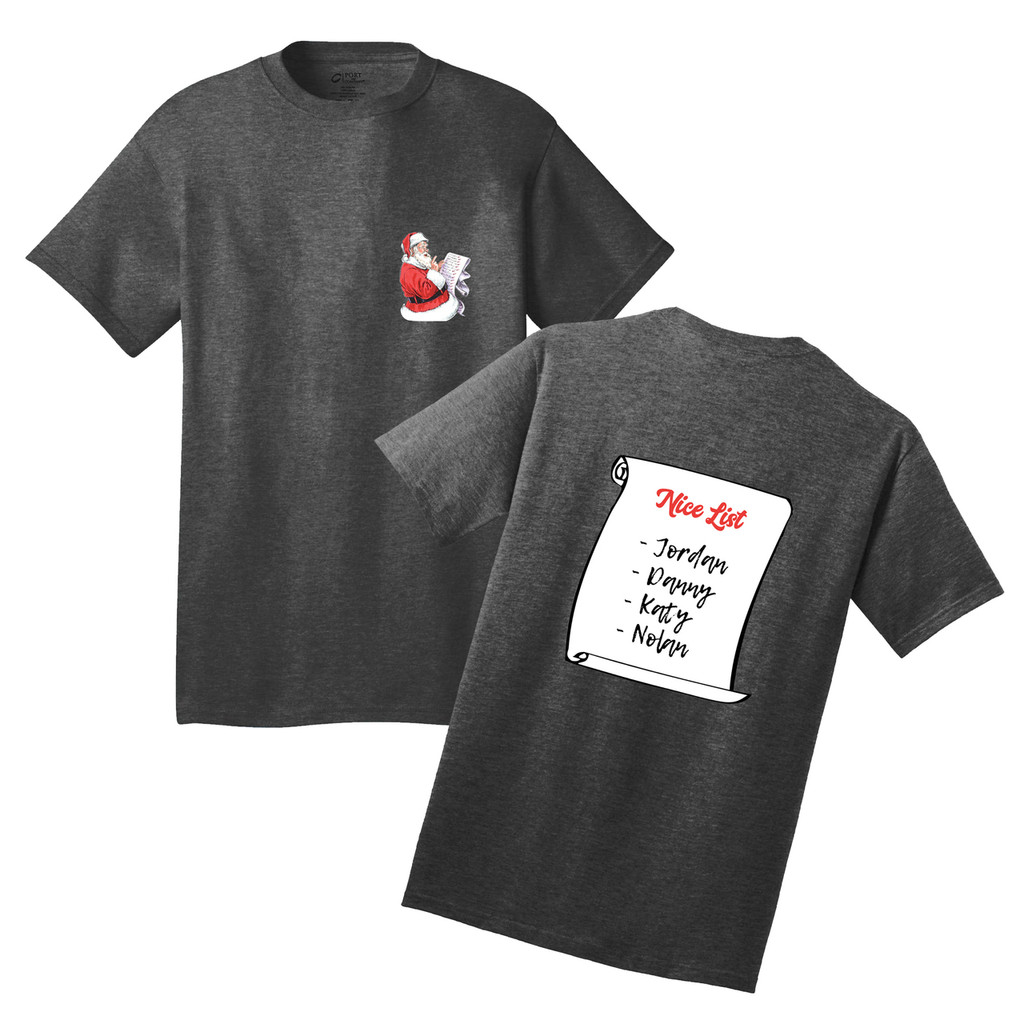 Custom Nice List T-Shirt