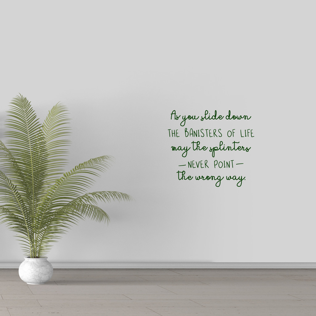 """The Banisters Of Life Wall Decal 18"""" wide x 16"""" tall Sample Image"""