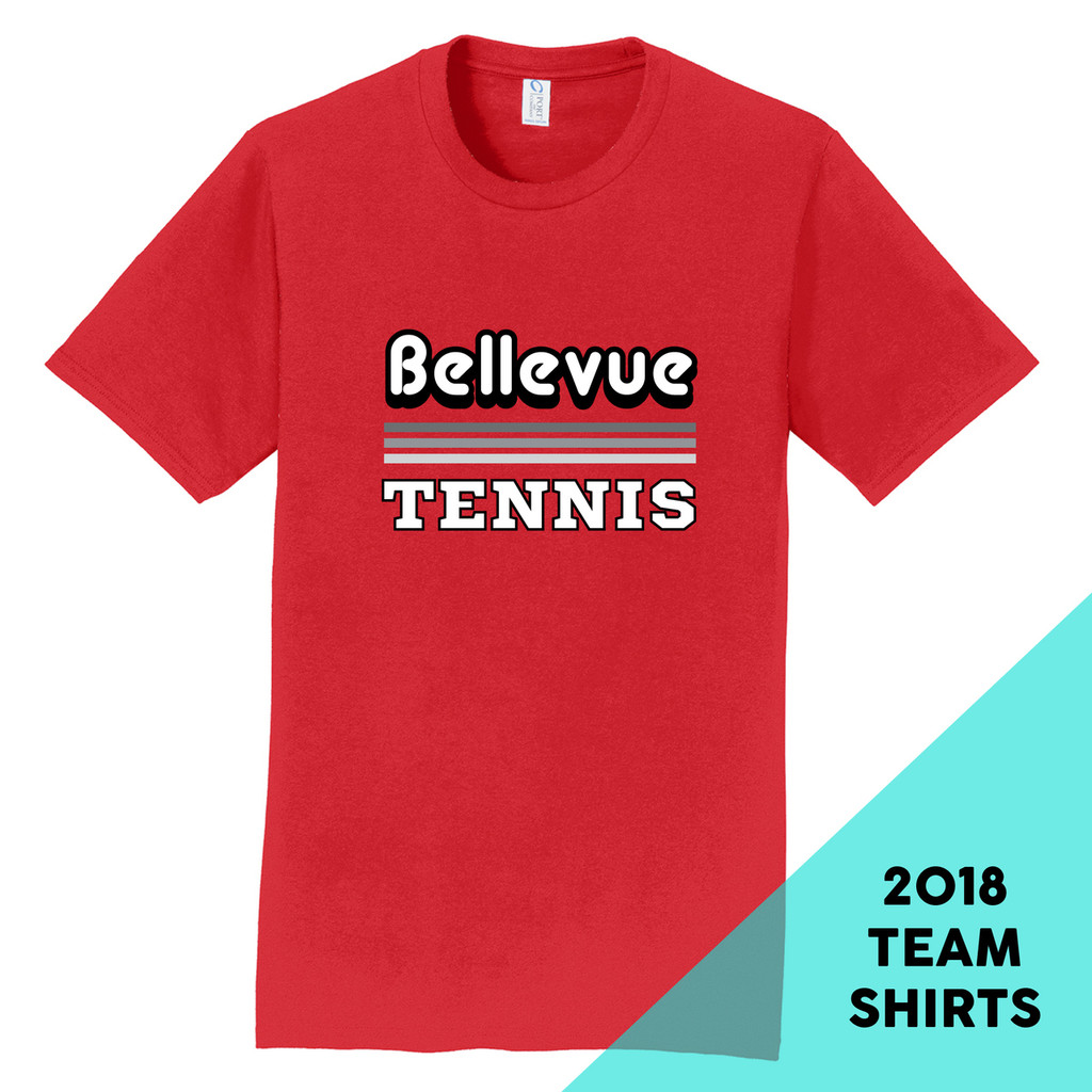 2018 Bellevue Tennis Basic Unisex Team T-Shirt