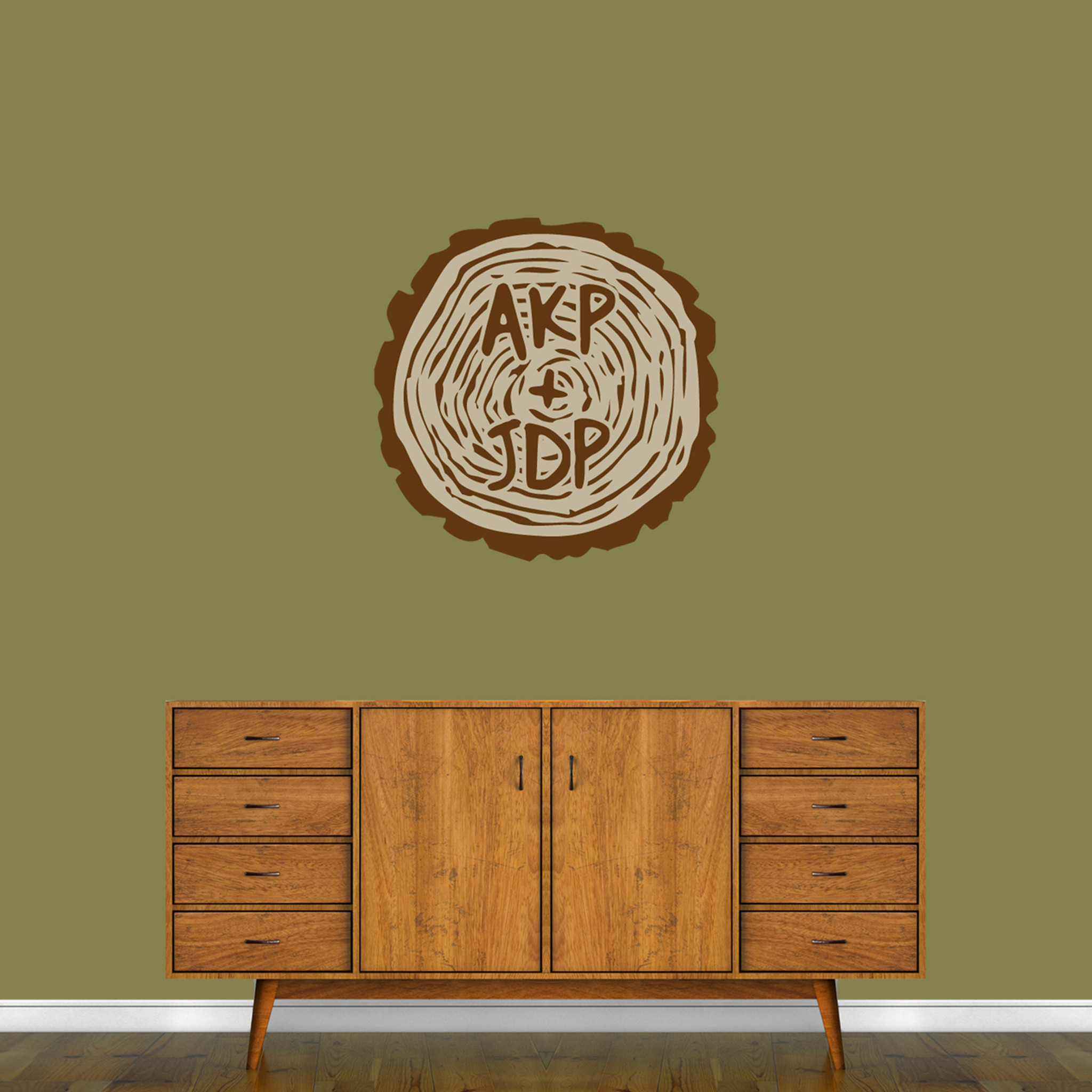 Custom Carved Tree Trunk Printed Wall Decal