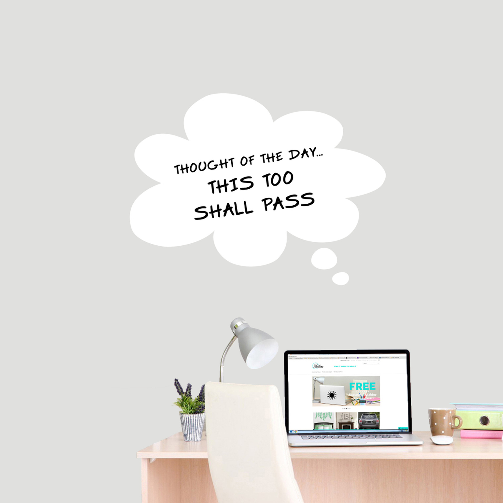 Dry Erase Thought Bubble Wall Decals Wall Decor Stickers