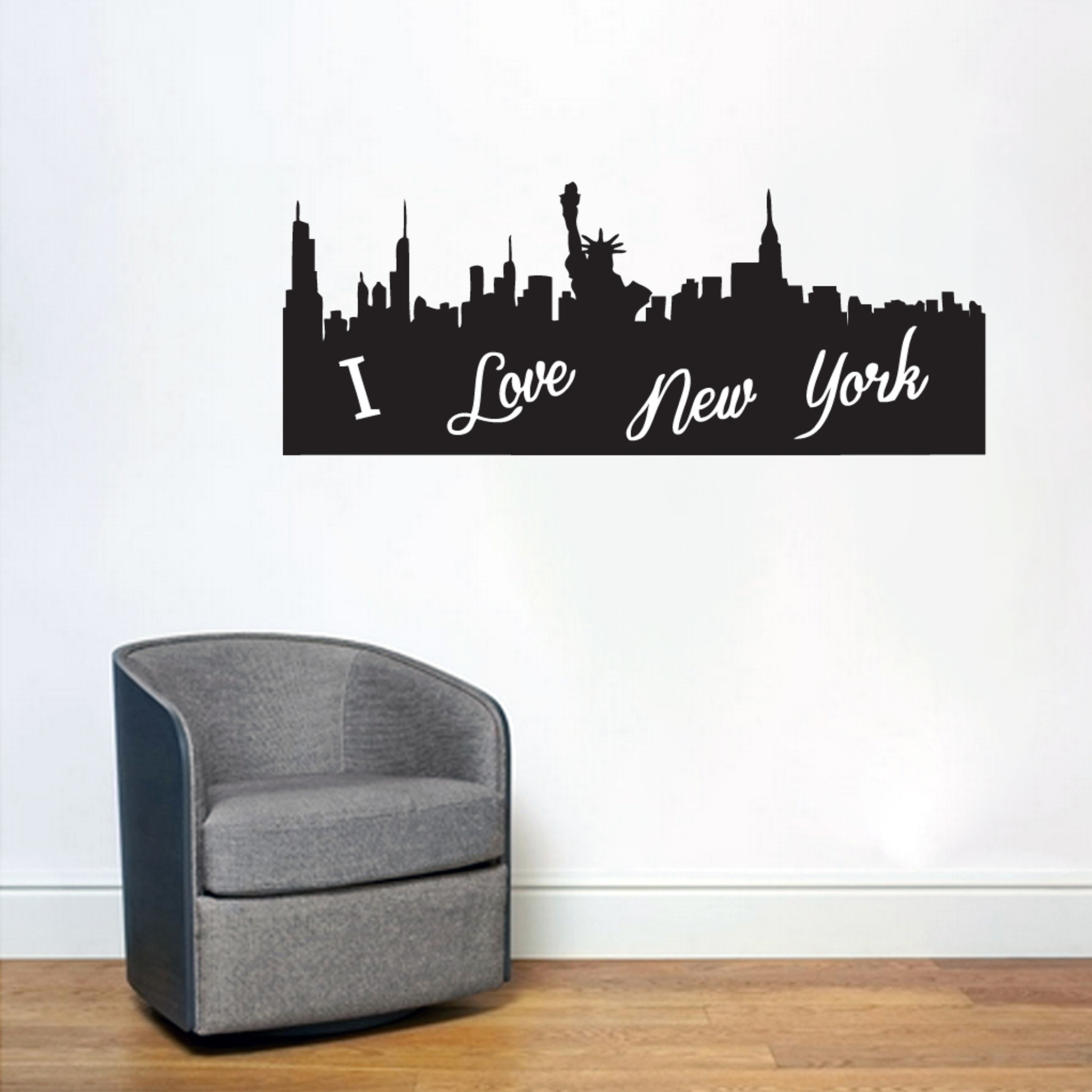 I Love New York City Silhouette Wall Decals Wall Decor Stickers