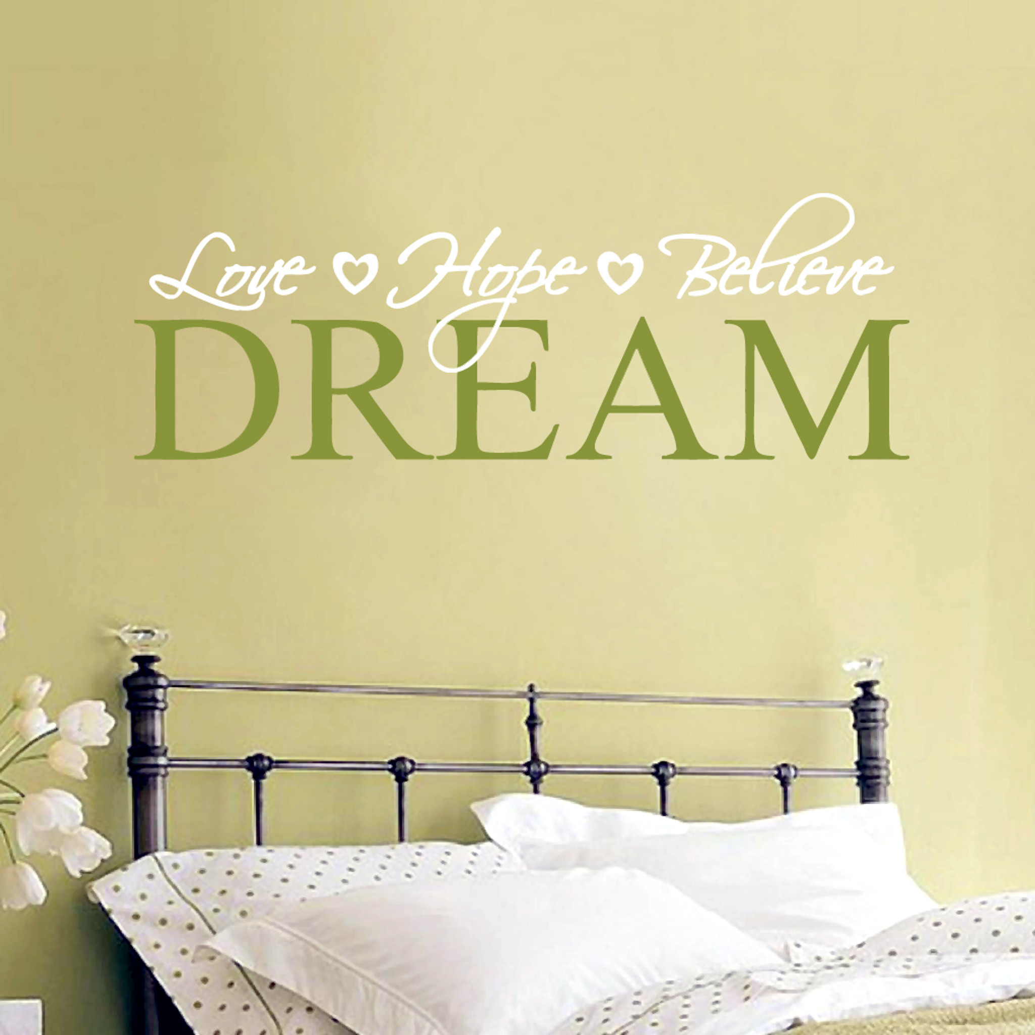 Love Hope Believe Dream Wall Decals and Wall Stickers  sc 1 st  Sweetums Signatures & Love Hope Believe Dream Wall Decals Home Décor Wall Decals
