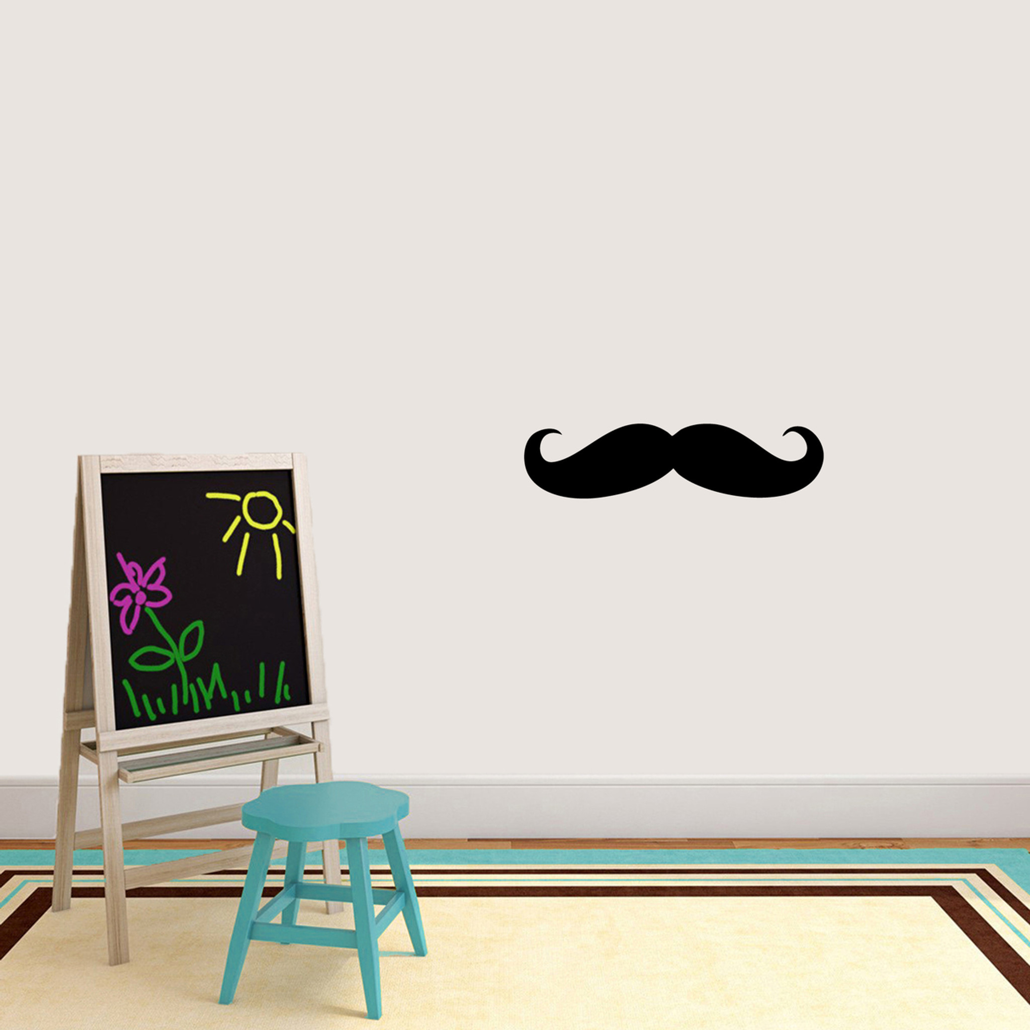 Mustache Wall Decals 24  wide x 6  tall S≤ Image  sc 1 st  Sweetums Signatures & Mustache Wall Decals Home Décor Wall Decals