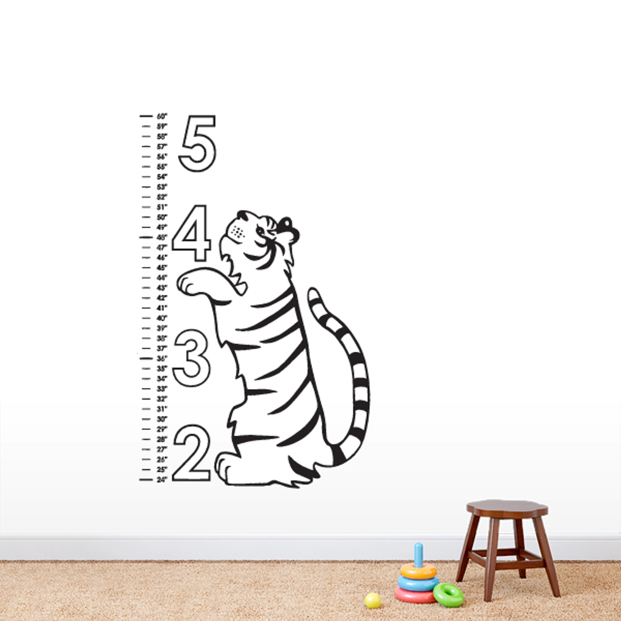 Tiger Growth Chart Decorative Wall Decals And Wall Stickers