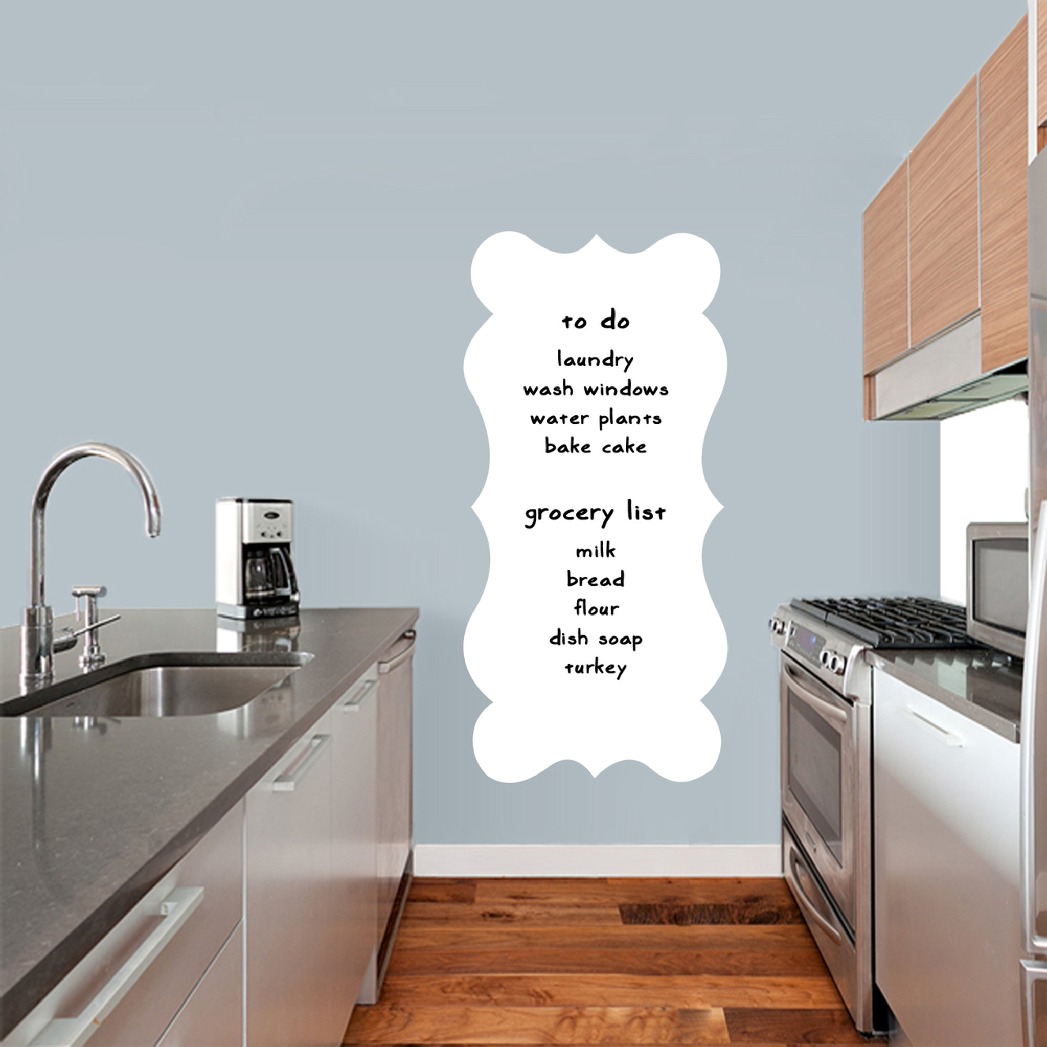 Fancy Dry Erase Wall Decals Decor Stickers