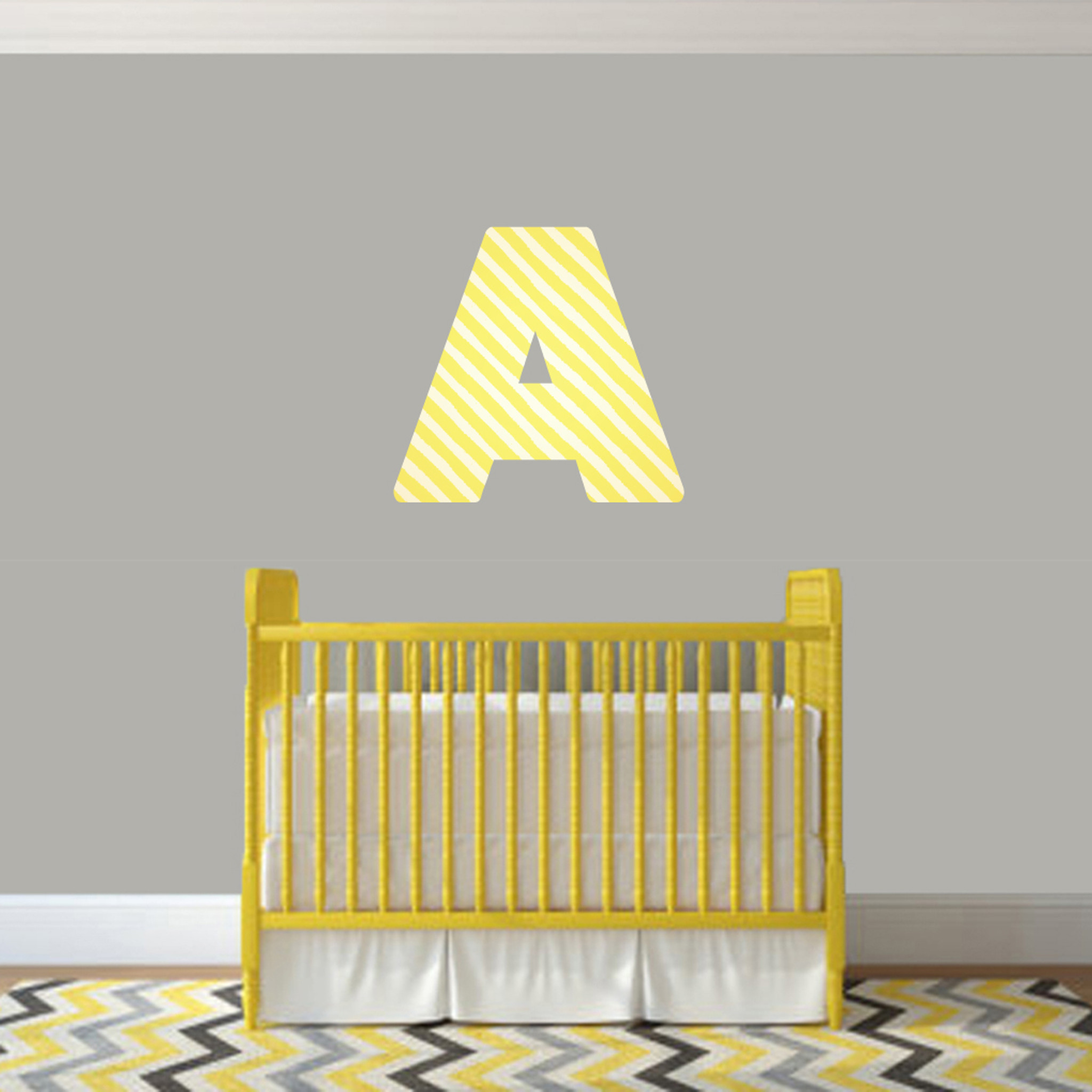 Printed Pattern Block Monogram Wall Decals Home Décor Wall Decals