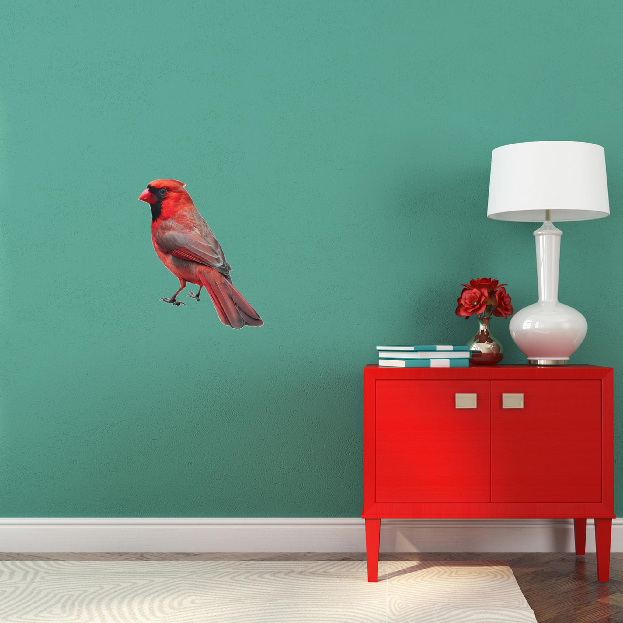 Real Life Cardinal Bird Printed Wall Decal
