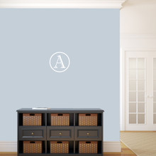 """Contemporary Monogram Wall Decal 12"""" wide x 12"""" tall Sample Image"""