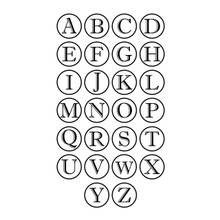 Contemporary Monogram Wall Decal Sample Letters