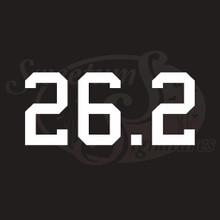 26.2 Marathon Vehicle Decals Stickers