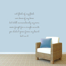 """Adoption Creed Wall Decals 40"""" wide x 32"""" tall Sample Image"""