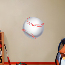"Printed Baseball Wall Decals 24"" wide x 24"" tall Sample Image"