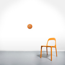 """Basketball Printed Wall Decals 6"""" wide x 6"""" tall Sample Image"""