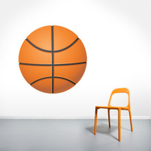 """Basketball Printed Wall Decals 36"""" wide x 36"""" tall Sample Image"""