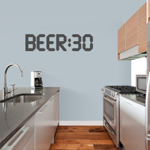 """BEER:30 Wall Decal 36"""" wide x 9"""" tall Sample Image"""