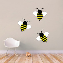 Bumble Bees Printed Wall Decals Large Sample Image