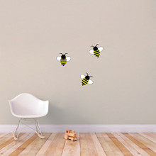 Bumble Bees Printed Wall Decals Small Sample Image