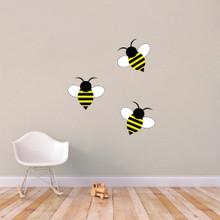 Bumble Bees Printed Wall Decals Medium Sample Image
