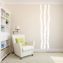 Birch Trees Wall Decal Set Sample Image