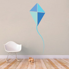 "Blue Kite Printed Wall Decals 26"" wide x 84"" tall Sample Ima"