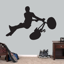 """BMX Bicycle Wall Decal 60"""" wide x 40"""" tall Sample Image"""