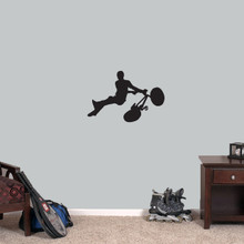 """BMX Bicycle Wall Decal 24"""" wide x 16"""" tall Sample Image"""
