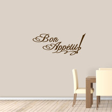 "Bon Appetit Wall Decal 48"" wide x 20"" tall Sample Image"