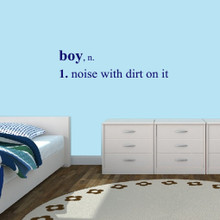 """Boy Wall Decals Wall Stickers 48"""" wide x 12"""" tall Sample Image"""