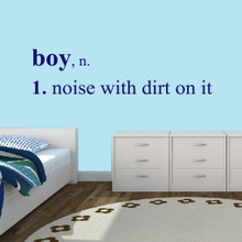 """Boy Wall Decals Wall Stickers 72"""" wide x 18"""" tall Sample Image"""
